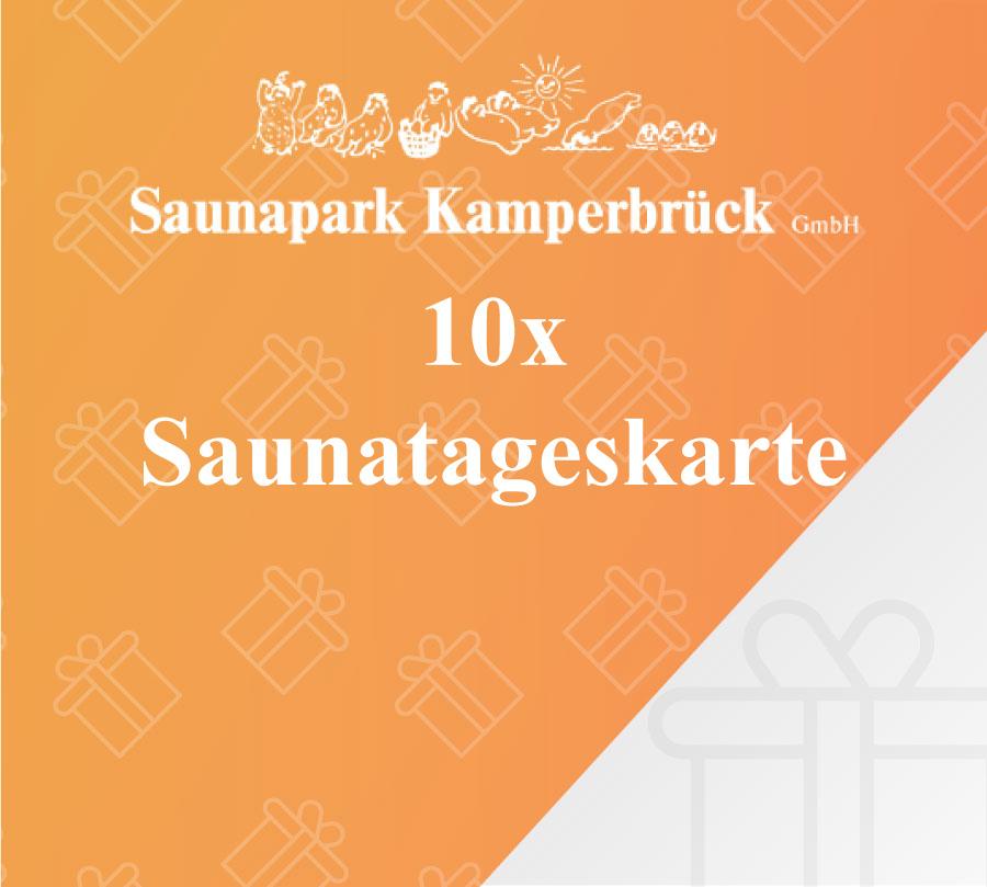 10er Saunatageskarte des Saunaparks Kamperbrück