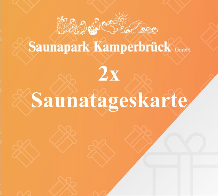 Gutschein für 2 Sauna Tageskarten im Saunapark Kamperbrück
