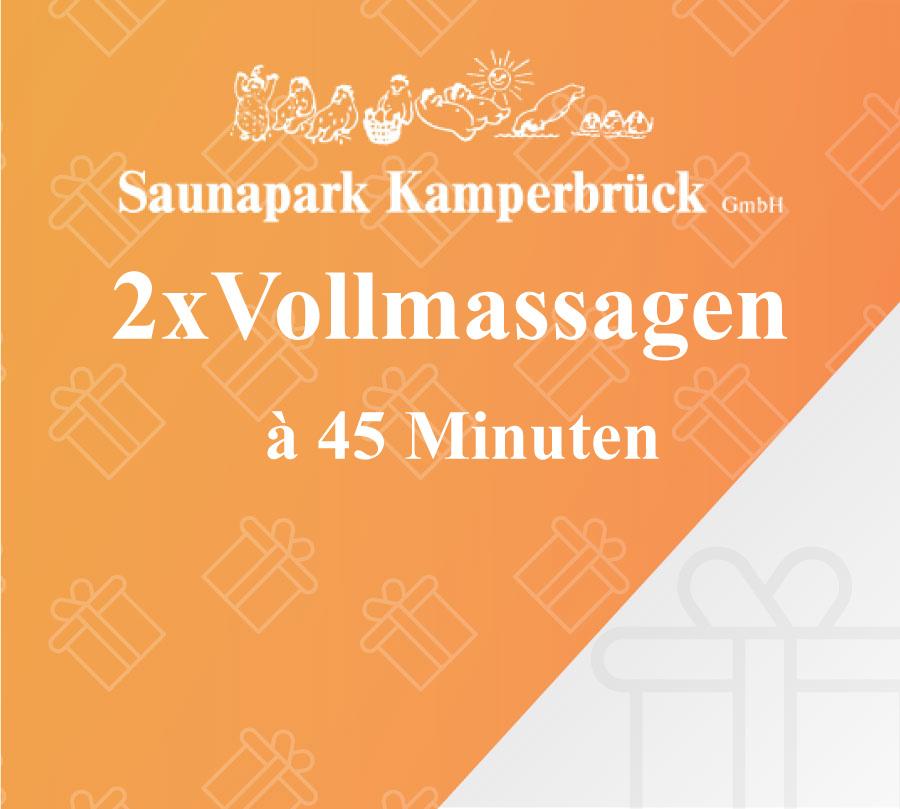 Gutschein für 2 Vollmassagen im Saunapark Kamperbrück