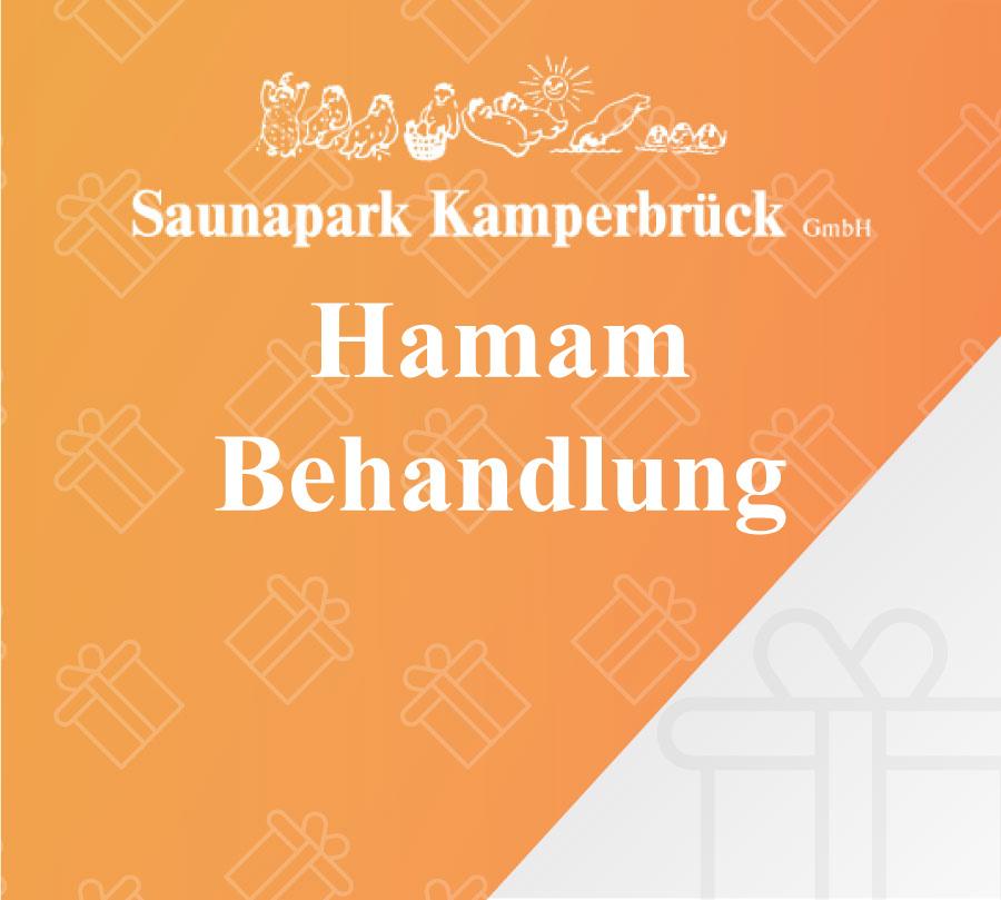 Gutschein zur Hamam Behandlung im Saunapark Kamperbrück