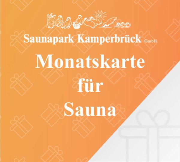 Monatskarte für den Saunapark Kamperbrück