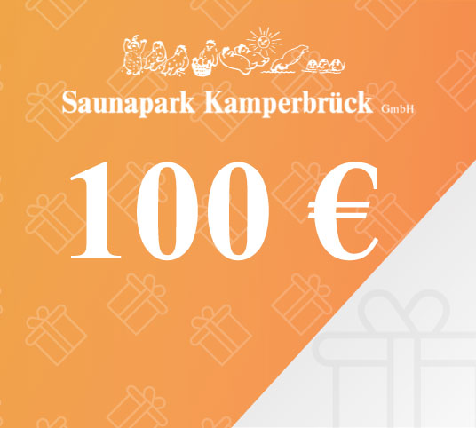 Gutschein über 100 Euro für den Saunapark Kamperbrück