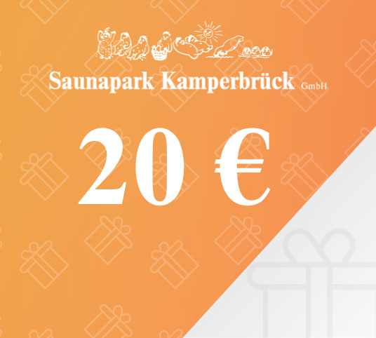 Gutschein über 20 Euro für den Saunapark Kamperbrück