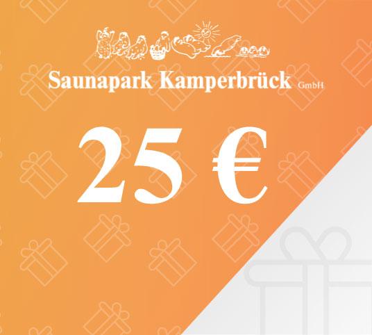 Gutschein über 25 Euro für den Saunapark Kamperbrück