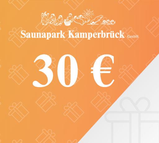 Gutschein über 30 Euro für den Saunapark Kamperbrück