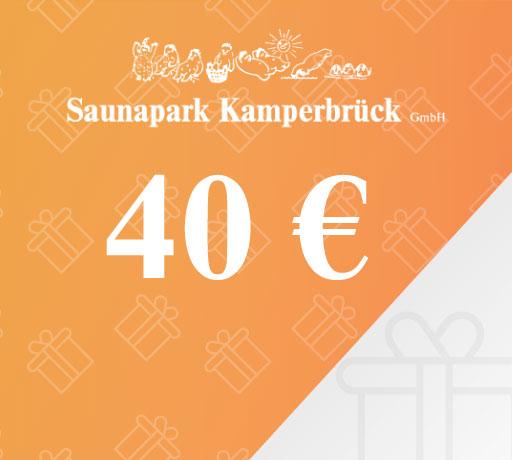 Gutschein über 40 Euro für den Saunapark Kamperbrück