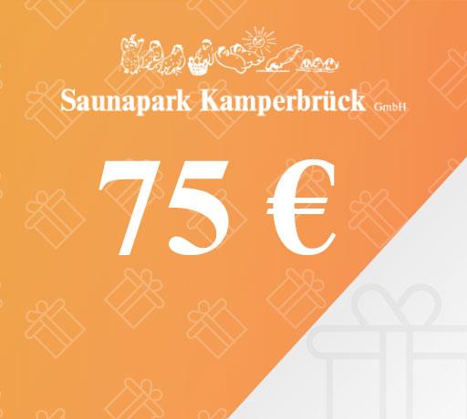 Gutschein über 75 Euro für den Saunapark Kamperbrück