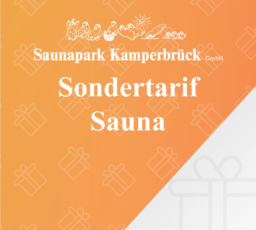 Gutschein für einen Sondertarif im Saunapark Kamperbrück