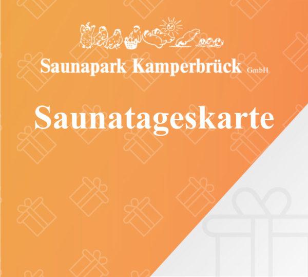 Gutschein für eine Sauna Tageskarte im Saunapark Kamperbrück