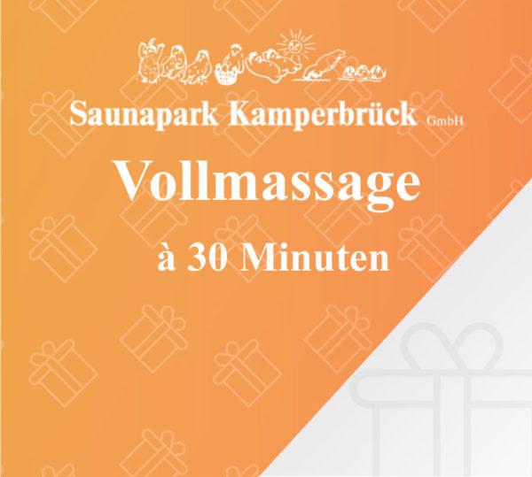 Vollmassage über 30 Minuten im Saunapark Kamperbrück